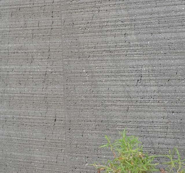 Rivestimento muro in Basaltina, lavorazione striata