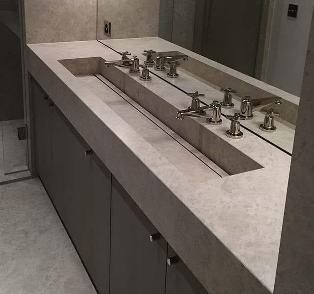 Top bagno in marmo Persian Beige