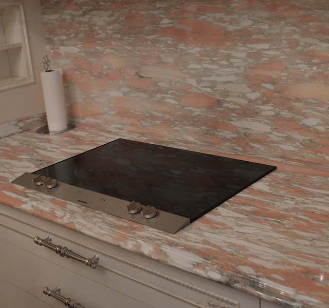 Piano in marmo Rosa Norvegia